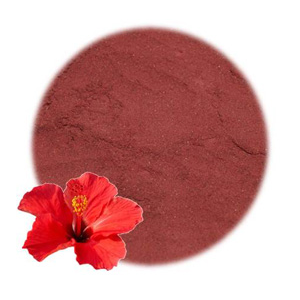 Hibiscus Flower Powder For Use In Natural Cosmetics Soap