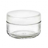 Clear Jar with White Lid  Set 10 ml.