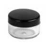 Clear Jar with BLACK Lid  Set 10 ml.