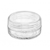 Clear Jar with NATURAL Lid  Set 10 ml.