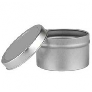 Deep Round Tin with Lid- (8 oz.)