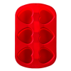 Silicone Soap Mold- 6 Cavity Heart
